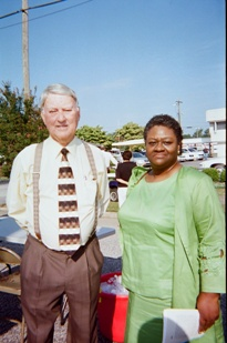 Dr. Vinson Synan and Dr. Reve' M. Pete at G. B. Cashwell Marker Dedication Ceremony, August 27, 2010.